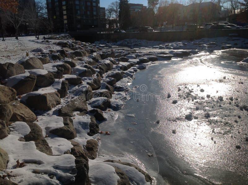 Der gefrorene Truckee stockbild