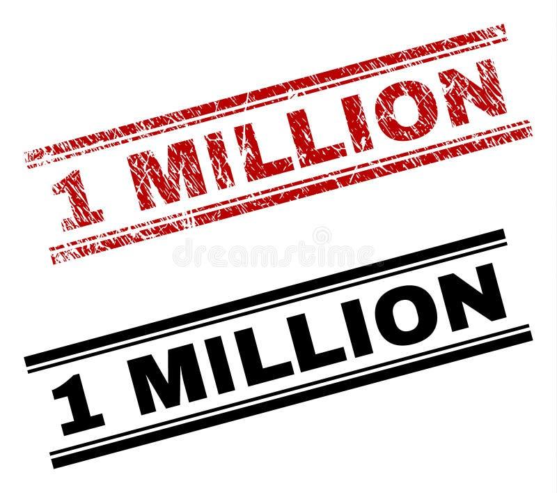 Der gemaserte Schmutz und säubert 1 MILLION Stempel-Drucke lizenzfreie abbildung