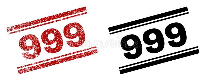 Der gemaserte Schmutz und säubert 999 Stempel-Drucke lizenzfreie abbildung