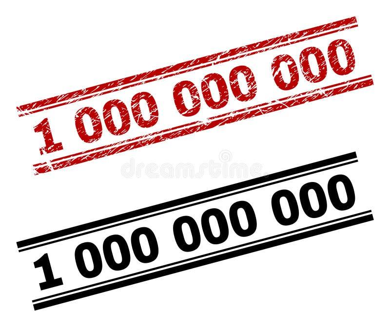 Der gemaserte Schmutz und säubert 1 000 000 000 Stempel-Drucke lizenzfreie abbildung