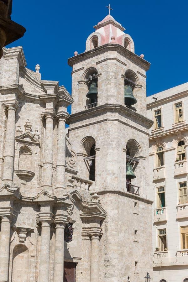 Der Glockenturm von San Cristobal Cathedral, Havana Cathedral, herein stockbild