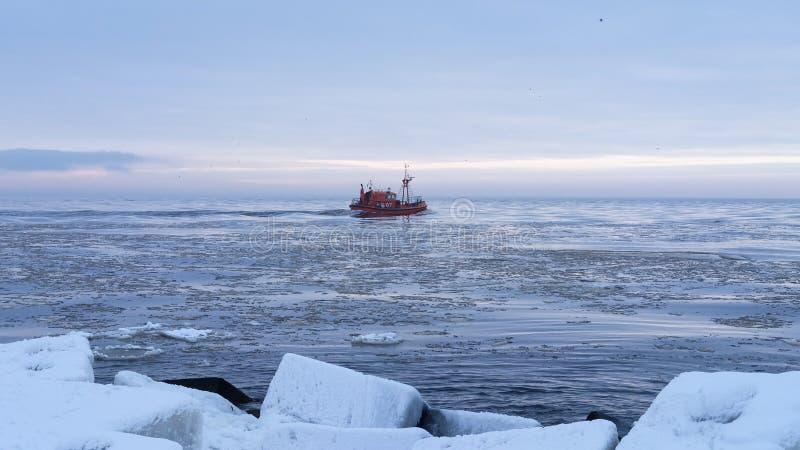Der Golf von Riga stockfoto