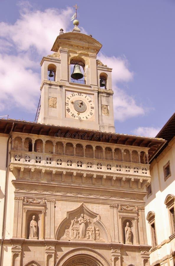 Der gotische Palast des Lage fraternity in Arezzo in Italien lizenzfreie stockbilder