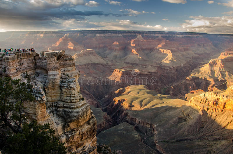 Der Grand Canyon Mather Point stockbild
