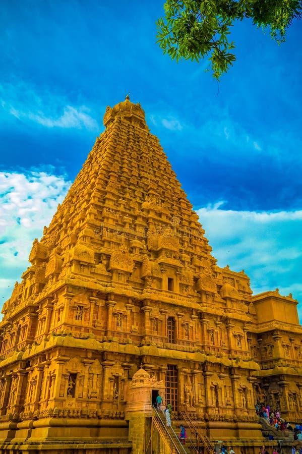 Der große Brihadeeswara-Tempel von Tanjore stockbilder
