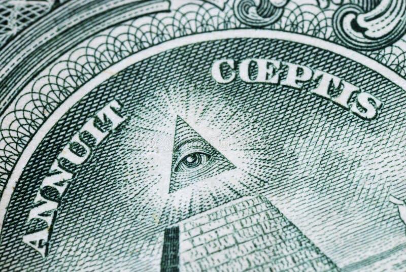 Der große Neal an der Rückseite des Dollarscheins stockbild