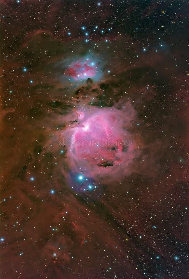 Der große Nebelfleck in Orion stockbild