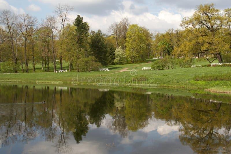 Der große Teich Catherine im Park stockfotos