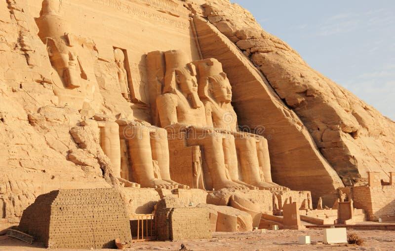 Der große Tempel von Ramesses II Abu Simbel, Ägypten stockbilder