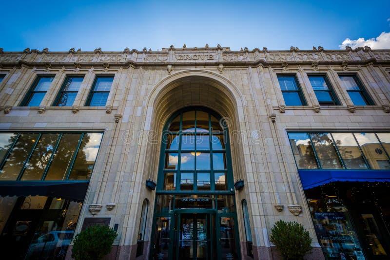 Der Grove-Säulengang, in im Stadtzentrum gelegenem Asheville, North Carolina lizenzfreie stockfotografie