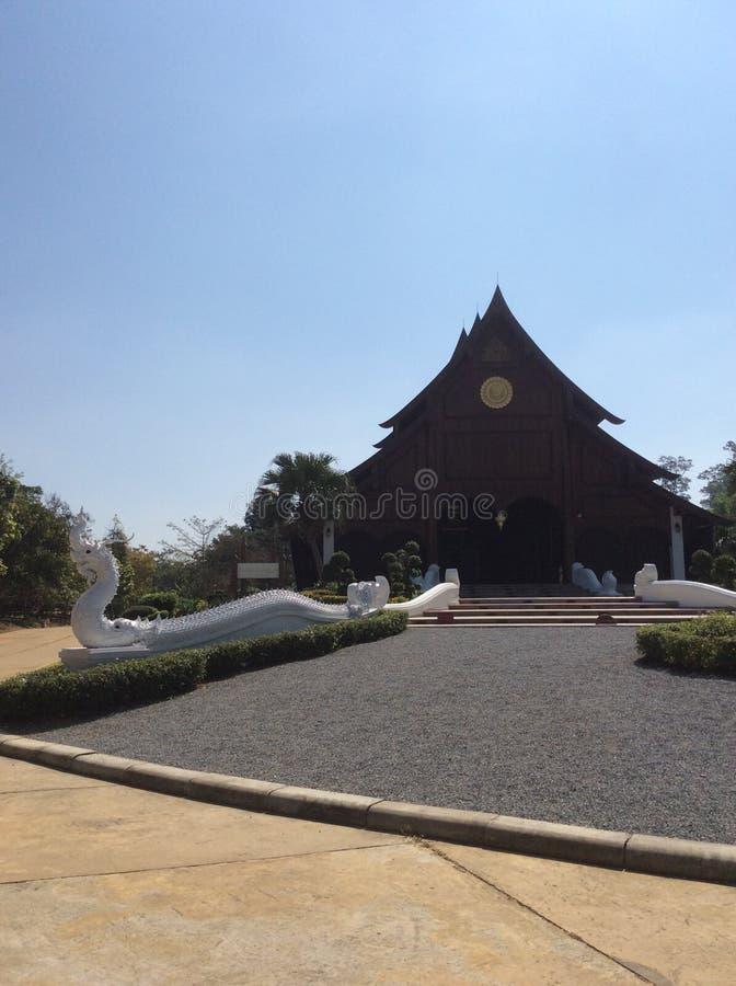 Der hölzerne Tempel stockfotos