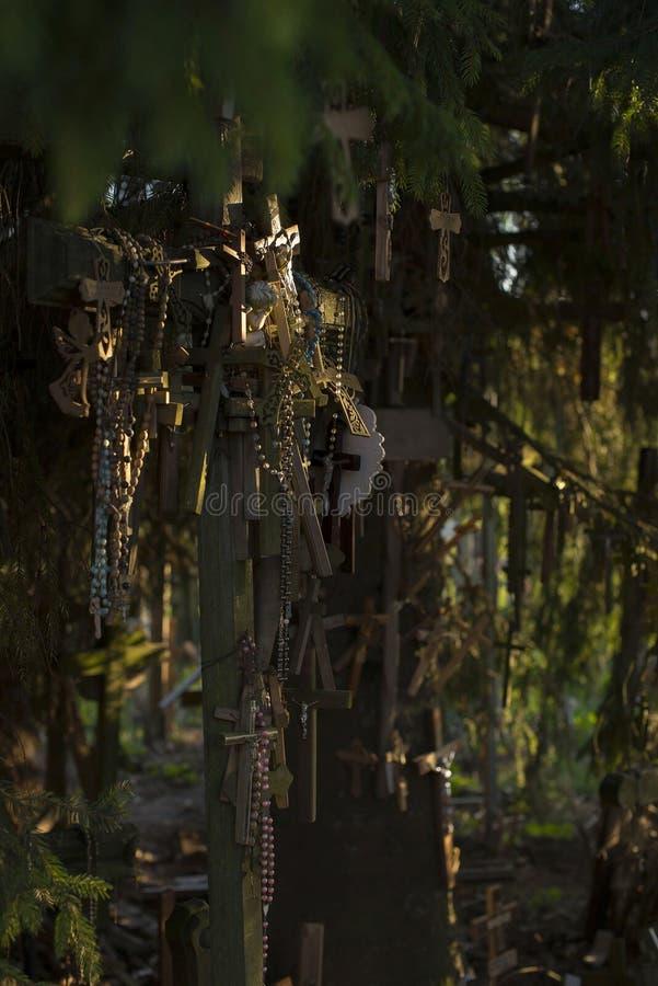 Der Hügel oder die Kreuze in Litauen stockfotografie