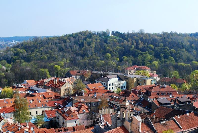 Der Hügel von drei Kreuzen in Vilnius lizenzfreies stockfoto