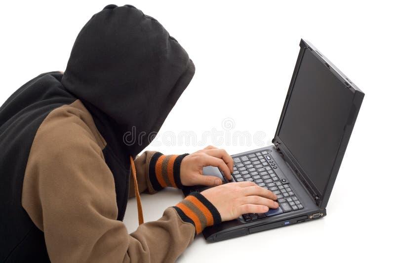 Der Hacker lizenzfreie stockfotos