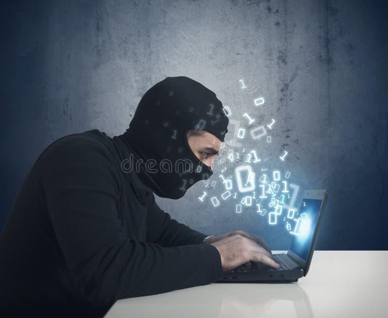 Der Hacker lizenzfreies stockbild