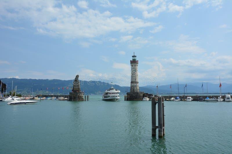 Der Hafen vom lindau lizenzfreie stockfotografie
