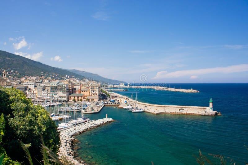 Der Hafen von Bastia in Korsika, Frankreich stockbilder