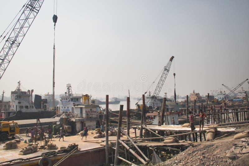 Der Hafen von Chittagong, Bangladesch lizenzfreies stockbild