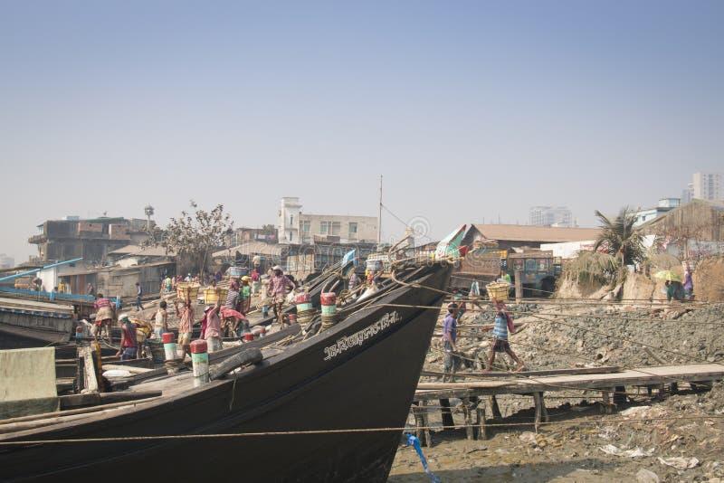 Der Hafen von Chittagong, Bangladesch lizenzfreie stockbilder