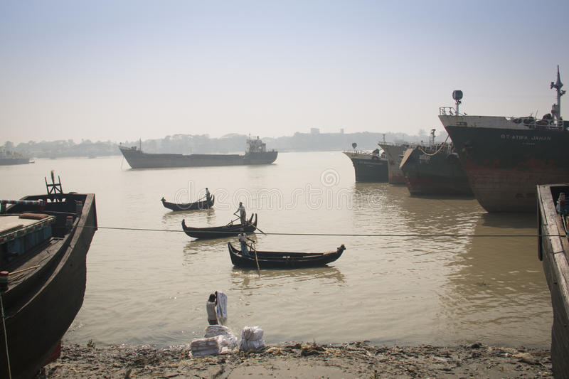 Der Hafen von Chittagong, Bangladesch stockbild