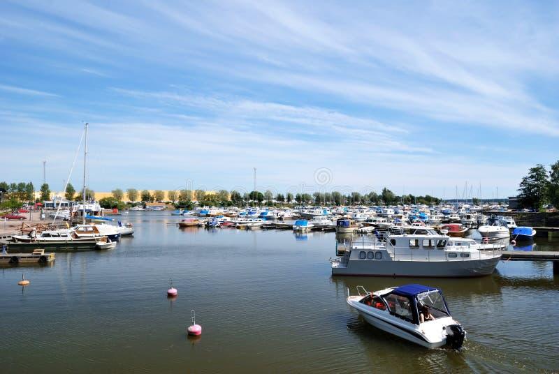 Der Hafen von Kotka, Finnland lizenzfreies stockfoto