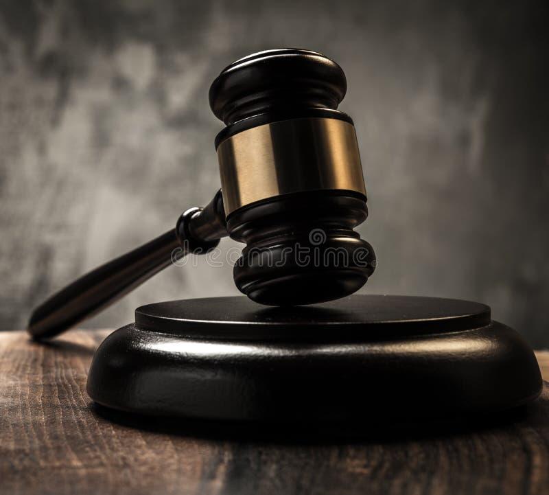Der Hammer des Richters stockfoto