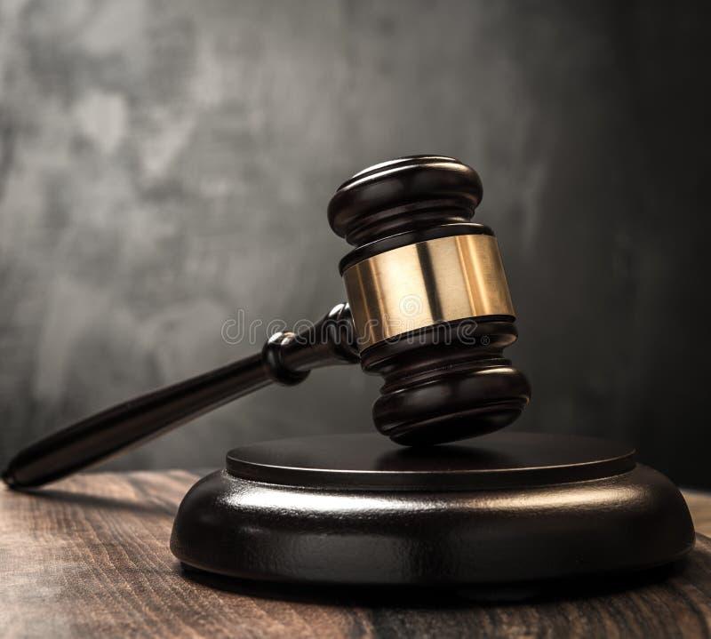 Der Hammer des Richters lizenzfreies stockfoto