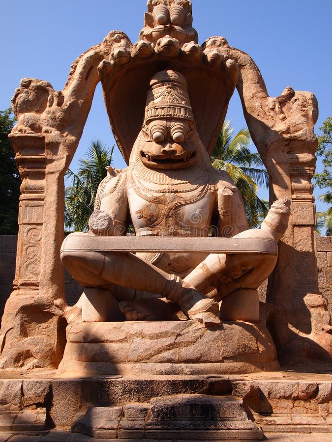 Der Hampi-Tempelkomplex, eine UNESCO-Welterbestätte in Karnataka, Indien lizenzfreies stockbild