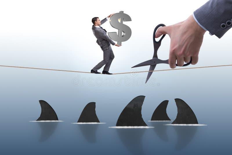 Der Handausschnitt fangen Geschäftsrisikokonzept ein lizenzfreie stockfotos