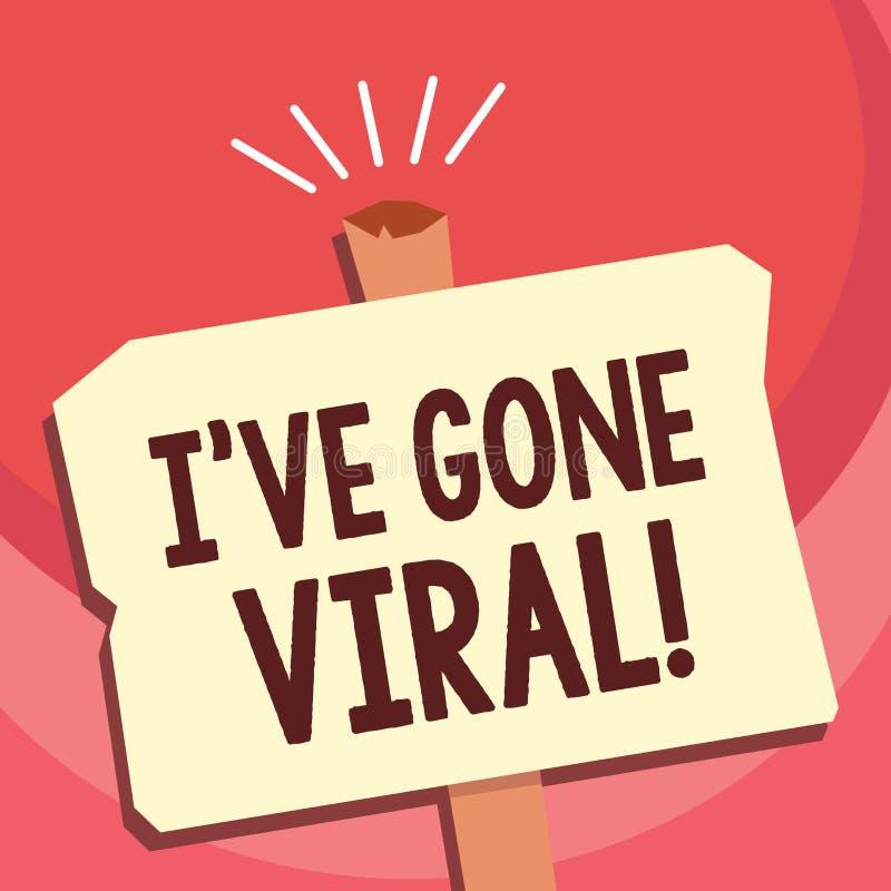 Der Handschriftstext, der Ive schreibt, sind Viren gegangen Konzeptbedeutungsmedizinischer begriff verwendet, um kleinen Infektio vektor abbildung