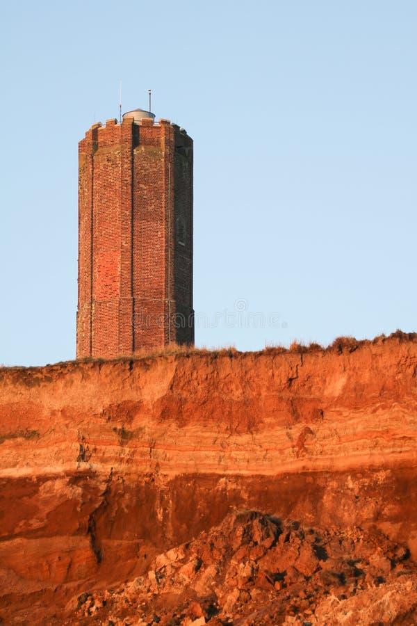 Der Hanoverian-Turm, bekannt als der Naze-Turm, wird bei Walton-auf-d-Naze in Essex, England aufgestellt lizenzfreies stockbild