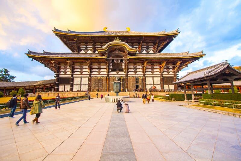 Der Haupt-Hall von Todai-jitempel in Nara, Japan lizenzfreie stockfotografie