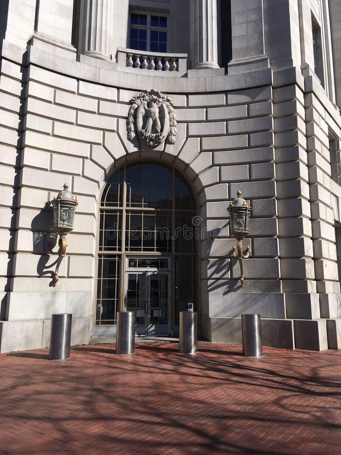 Der Haupteingang, Piazza-Gebäude der Vereinten Nationen, San Francisco, 1 lizenzfreie stockbilder