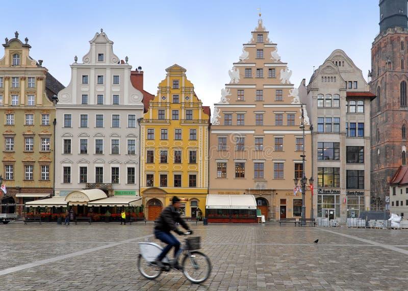 Der Hauptplatz der historischen Mitte von Breslau stockfotos
