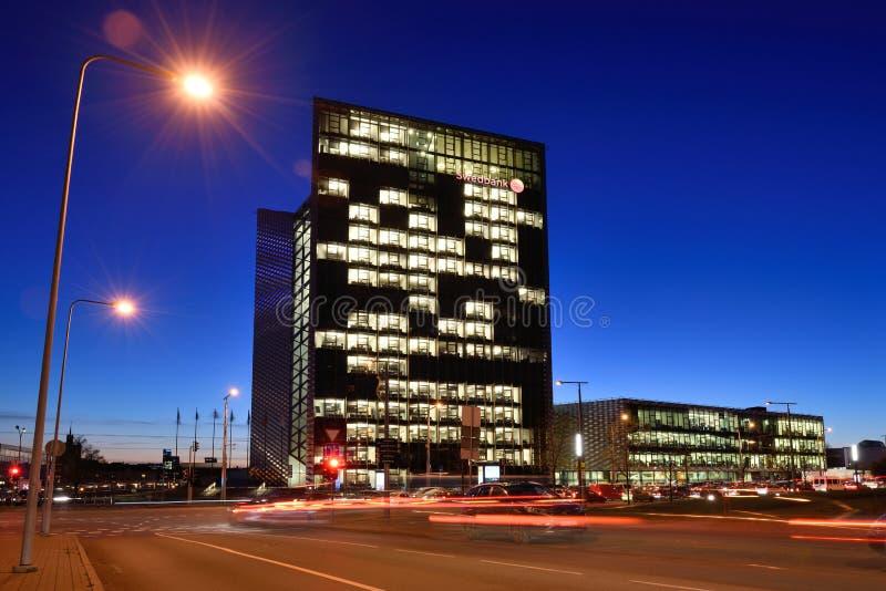 Der Hauptsitz von Swedbank, Vilnius stockbilder