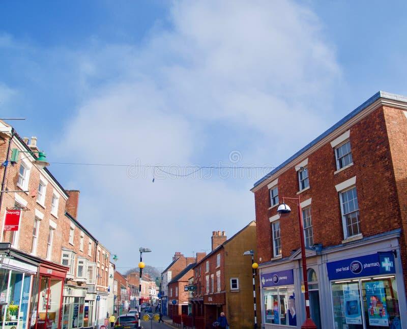 In der Hautpstraße bei Cheadle in Staffordshire lizenzfreies stockbild