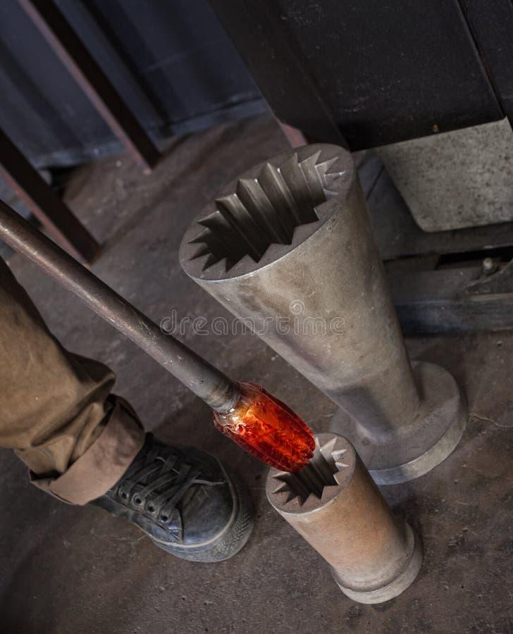 Glas und Eisen druckgegossen stockbilder