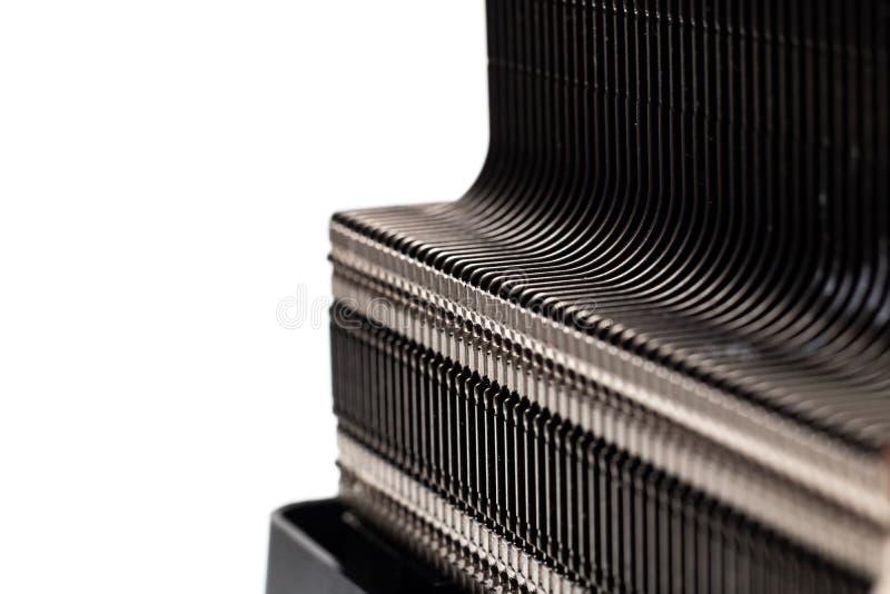 Der Heizkörper auf dem kühleren Abschluss oben, Isolat stockfotografie