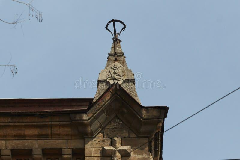 Der Helm eines historischen Gebäudes Odessa, Ukraine stockbild
