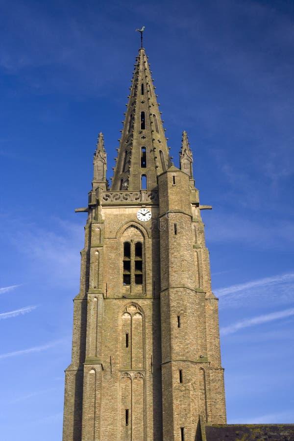 Der Helm von Heiliges Leger-Kirche, Socx, Nord-Frankreich stockfotografie