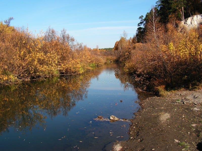 Der Herbstfluß stockbild
