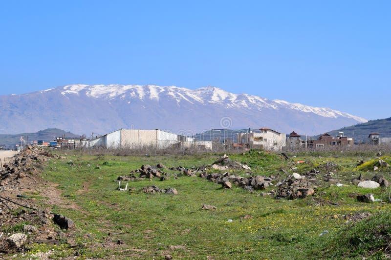 Der Hermon, das Golanhöhen, Israel lizenzfreies stockbild