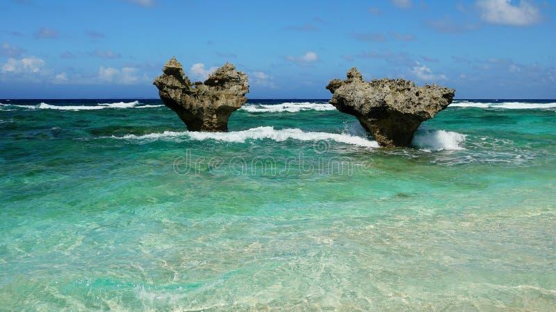 Der Herz-Felsen, Kouri Jima lizenzfreies stockfoto