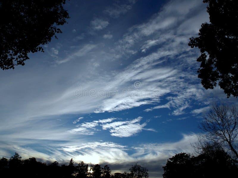 Der Himmel in der Dämmerung stockbilder