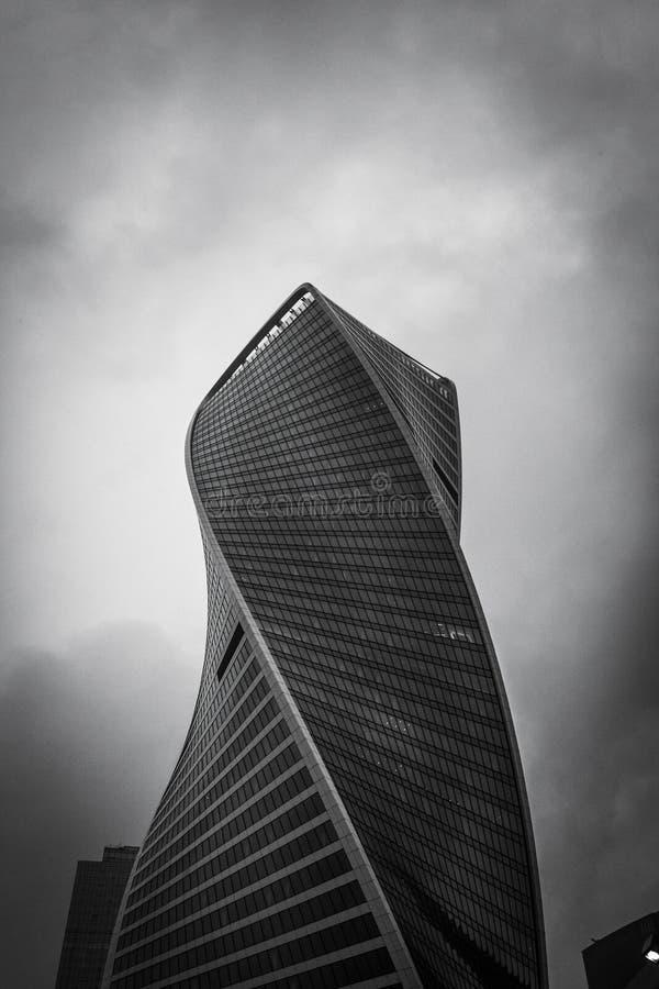 Der Hintergrund der Geb?ude des Gesch?ftszentrums Fassaden von Wolkenkratzern stockfotos