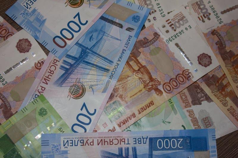Der Hintergrund der russischen Währung stockbilder