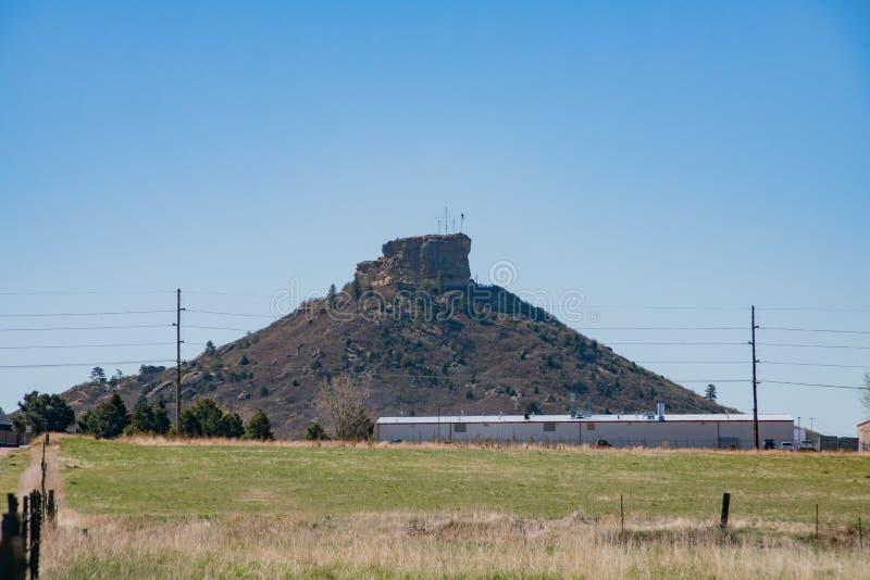 Der historische Schloss-Felsen stockbild