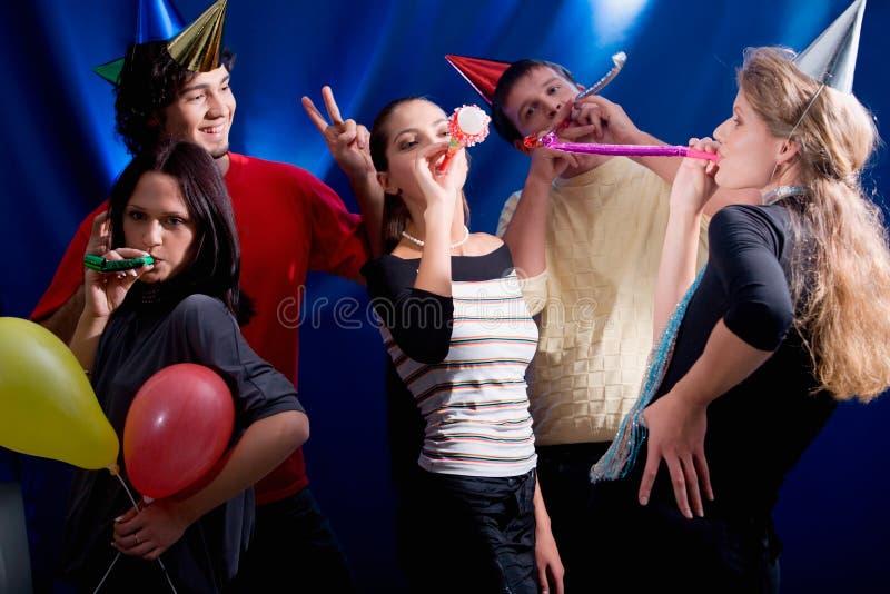 In der Hitze der Party stockbilder