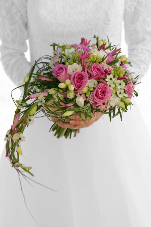 Der Hochzeitsblumenstrauß stockfotos
