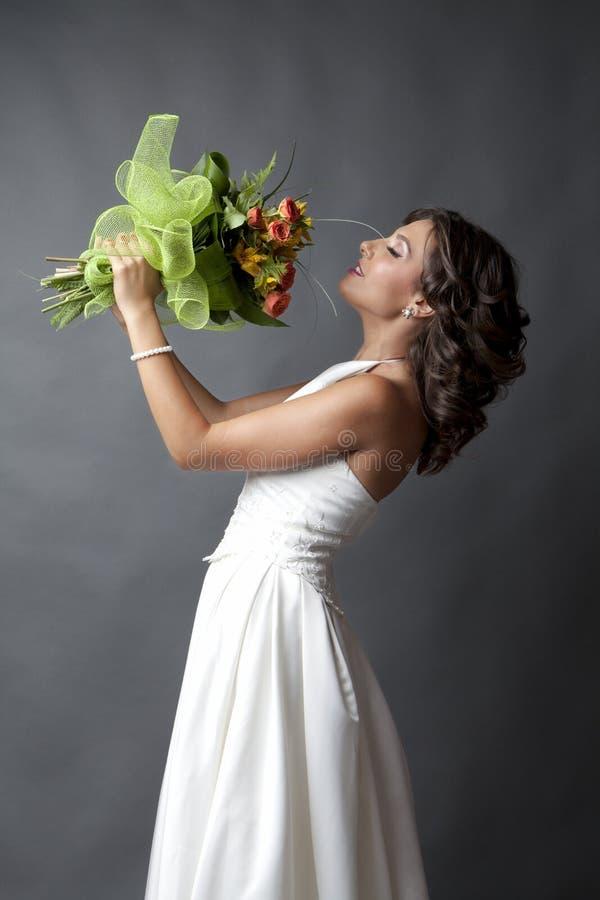 Der Hochzeitsblumenstrauß stockfotografie